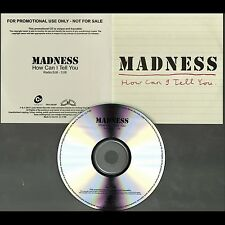 MADNESS - HOW CAN I TELL YOU - CD SINGLE (PROMO) - SUGGS - TWO 2 TONE