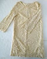 *NWT* FOREVER 21 SUMMER MID-SLEEVE LACE DRESS CREAM SIZE S/P T16