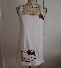 HELLO KITTY Sleepwear Cover-Up Wrap Robe White Adjustable Velcro Size S/M Junior