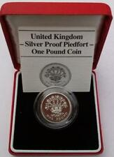 1986 £1 Irish Flax Coin Silver Proof Piedfort With Case and COA