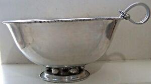 Vintage Mid Century Modern Buenilum  Aluminum Punch Bowl & Ladle