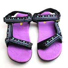 Women's Teva Sandals W/Adjustable Back & Front Straps Sport Sandal Size 5 Black