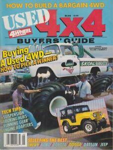 1987 4 WHEEL & OFF-ROAD 4x4 Buyers Guide Skoal Bandits Monster Truck PLEASE READ