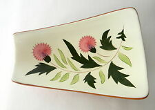 Stangl Thistle Relish Dish 11 3/8 inches Mid Century Pottery Serving Dish