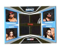 TNA Mexican America 2011 Signature Impact Gold Quad Relic Card SN 24 of 50