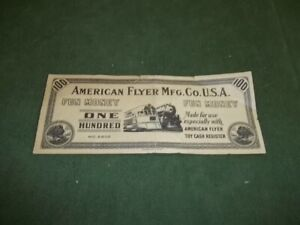 American Flyer Fun Money $100