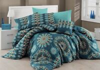 Bedding Set Paisley Peacock Duvet Cover Oriental Hippie Mandala Double Mystic