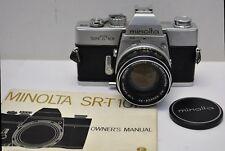 Minolta SR-T101 Camera & ROKKOR MC PF 55mm f/1.7 Lens & Manual
