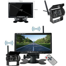 "Wireless Truck 7"" HD Monitor + IR Night Vision Backup Camera with Remote Control"