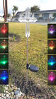 Solar Cross Clear Acrylic Yard Stick Color Change LED Light
