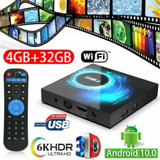 Android TV Box 4GB 32GB 10.0 Quad Core Smart WiFi Media Player Set Top Box T95