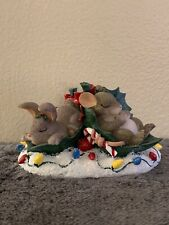 """Fitz And Floyd Charming Tails """"Silent Night, Holly Night� Figure"""