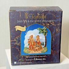 Fontanini Heirloom Nativity 2003 Shepherds Tour Exclusive Christmas Ornament Box