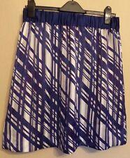 Marks & Spencer portefeuille UK14 EU42 US10 nouveau bleu/violet taille élastique jupe