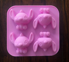 NEW LILO & STITCH SILICONE MINI CAKE PAN CUPCAKE JELLO SOAP CRAYON MOLD