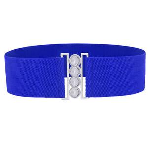 2019  Women Wide Waist Elasticated Lady Girl Fashion Buckle Belt Belts Elas C+