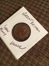 Great Britain 1 New Penny Bronze COIN  Circulated FS