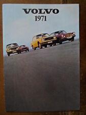 VOLVO RANGE orig 1971 UK Mkt Sales Brochure - 142 144 145 Express 164 1800E