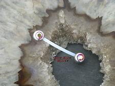 Petto Piercing Industrial in plastica sfera di cristallo multicolor Aurora Borealis