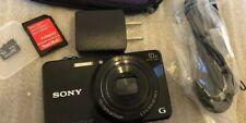 Sony Digital Camera DSC-WX220/B 18-MP Black With 64 Gb Sd Card