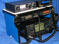 Scanner Radio Bench Mount Rack Stack or Holder Kenwood Yaesu Icom Mike Antenna