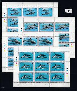 OB 9X NIUE - MNH - WWF - DOLPHINS - FISH - MARINE LIFE
