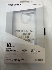 Tech21 Pure Clear Case for Samsung Galaxy S9 (Clear) 10 foot drop tested