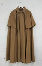 HOUSE OF CAPES MELBOURNE Long Brown Pure Wool Cape One Size