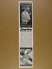 1942 Longines Convoy model Watch photo vintage print Ad