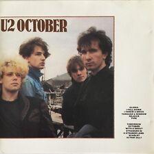 U2 OCTOBER CD ISLAND USA PRESS FAST DISPATCH