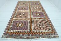 """Anatolia Oushak Nomads Kilim, Area Rug, Kelim, Large Rugs, Floor Carpet 72""""X128"""""""