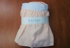 John Matouk & Co Peach Pink King Size Dust Ruffle Bed Skirt ~NIP~