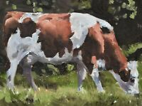 Lovely James Coates Original Oil Painting Of A Cow (British Wildlife Art)