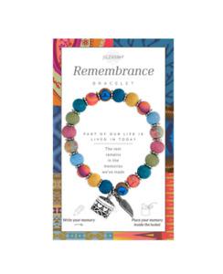 NEW JILZARA Clay Beads CHARM REMEMBRANCE MESSAGE BOX MULTI COLOR Petite Bracelet