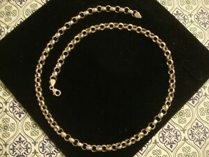 Superb,Quality Crafted Sterling Silver: Large Belcher Links Chain: 22 Inches