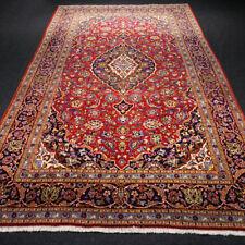 Orient Teppich Rot 332 x 200 cm Perserteppich Dunkelblau Handgeknüpft Red Carpet