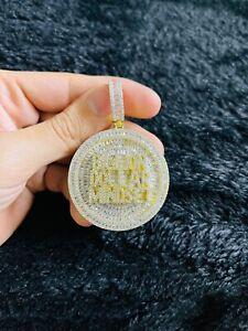 14k Gold Finish Billion Dollar Mindset Hip Hop Charm Pendant w/ Chain