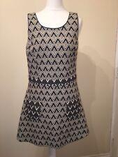 RIVER ISLAND Grey Black  Pinafore Dress Size 12 Autumn Winter  Dungaree