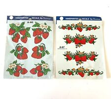 Vintage 1986 Decorcal Handpainted Strawberry Decals Model A80 New Sealed Package