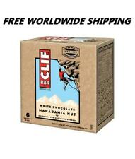 Clif Bar White Chocolate Macadamia Nut Energy Granola Bars 6 Ct  WORLD SHIP