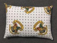 """Beautiful Handmade Harry Potter Hogwarts Crest Accent - Throw Pillow 13"""" x 9"""""""