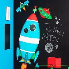 Wallies Wandsticker Rakete UFO Satellit Weltall Wandaufkleber Kinderzimmer Stern