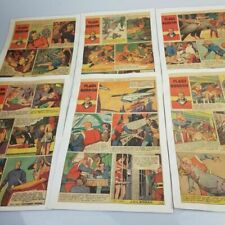 6x FLASH GORDON Mounted Comic Strip Pages - THE STAR WEEKLY TORONTO Vintage 1947