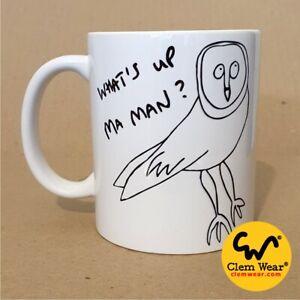 Vic Reeves Bob Mortimer What's Up Ma Ma Man? Owl MUG Coaster Coffee Gift comedy
