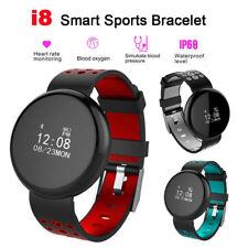 Smart Bracelet Heart Rate Blood Pressure Monitor Sports Watch Fitness Tracker I8