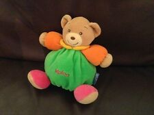 "Kaloo green chubby beanie 7"" teddy bear baby soft toy plush comforter doudou"