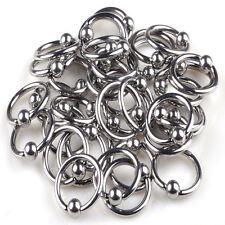 Bead Ring Ball Hoop Eyebrow Nipple Nose Lip Earrings Body Piercing Jewelry 10pcs