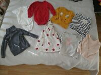 Next f&f h&m baby Girls 12-18 Months Bundle Summer Tops Dungarees Vest