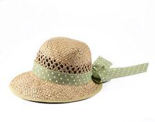 Miuno® Damen Strohhut Sonnenhut Sommer Hut mit Schleife H51013