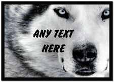 Husky Face Personalised Dinner Table Placemat